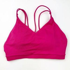 Fablatics | Hot Pink Padded Medium Sports Bra